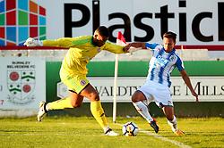 Chris Lowe of Huddersfield Town tackles Aaron Chapman of Accrington Stanley - Mandatory by-line: Robbie Stephenson/JMP - 12/07/2017 - FOOTBALL - Wham Stadium - Accrington, England - Accrington Stanley v Huddersfield Town - Pre-season friendly