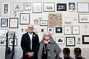 LINCOLN, NE. -AUG. 13, 2014: Art collectors Robert and Karen Duncan inside their home in Lincoln, NE Aug. 13, 2014. <br />