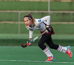 Wimbledon's Cherry Seaborn. Southgate v Wimbledon - Investec Women's Hockey League East Conference, Trent Park, London, UK on 25November 2017. Photo: Simon Parker