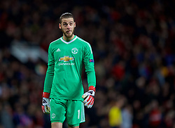 MANCHESTER, ENGLAND - Tuesday, March 13, 2018: Manchester United's goalkeeper David de Gea during the UEFA Champions League Round of 16 2nd leg match between Manchester United FC and Sevilla FC at Old Trafford. (Pic by David Rawcliffe/Propaganda)