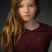 Headshot for young actress.