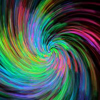 A swirling pattern