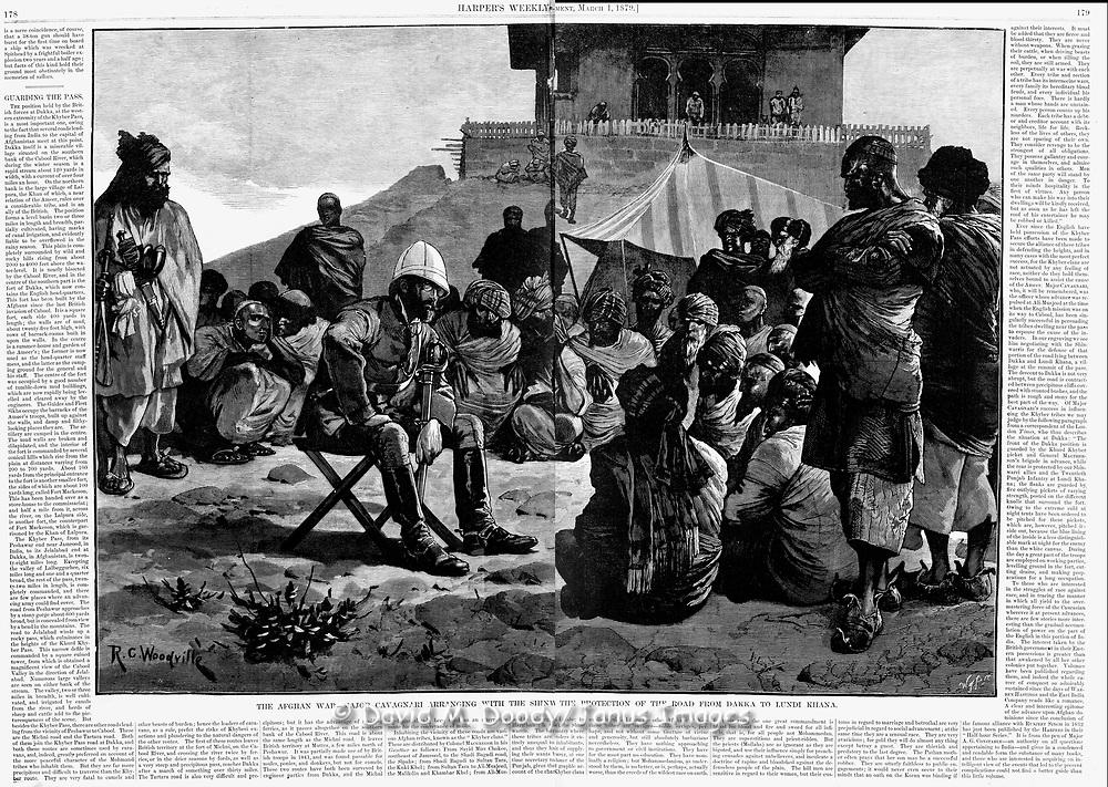 British in Afghanistan 1879  Major Cavagnari Harper's Weekley 2, 1879 page  178.