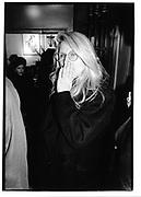 Jane holzer, Bridgit Berlin opening at stubbs© Copyright Photograph by Dafydd Jones 66 Stockwell Park Rd. London SW9 0DA Tel 020 7733 0108 www.dafjones.com