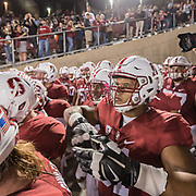PALO ALTO, CA - OCTOBER 15:  Joshua Garnett #51 of the Stanford Cardinal enters the stadium with his team prior to a PAC-12 football game against the UCLA Bruins on October 15, 2015 at Stanford Stadium on the campus of Stanford University in Palo Alto, California.   (Photo by David Madison/Getty Images) *** Local Caption *** Joshua Garnett