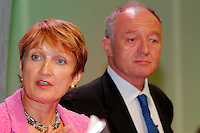 Tessa Jowell MP, Secretary of State for Culture, Media and Sport, speaking at the TUC 2005 with Ken Livingstone, Mayor of London.