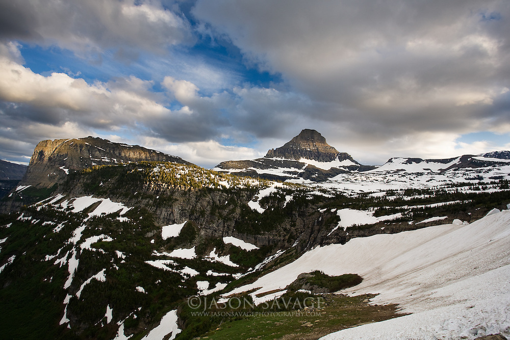 Mid July atop Logan Pass. Glacier National Park