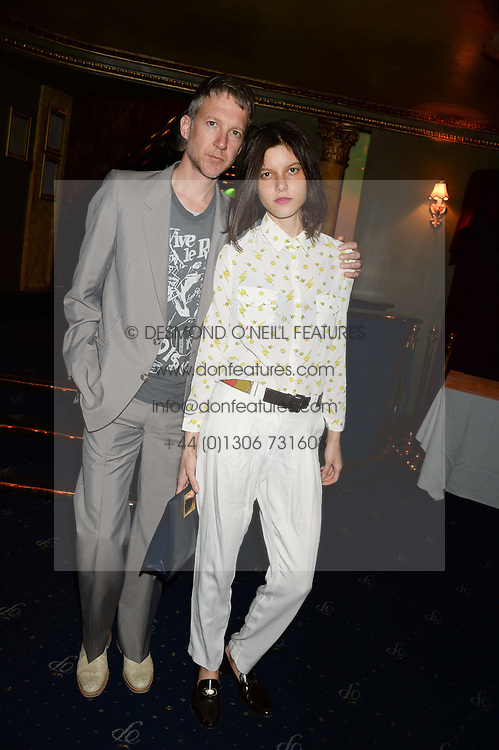 JEFFERSON HACK and TATIANA COTLIAR at the Hoping Foundation's 'Rock On' Benefit Evening for Palestinian refuge children held at the Cafe de Paris, London on 20th June 2013.