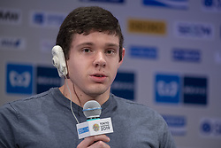 March 1, 2019 - Tokyo, Tokyo, Japan - Romanchuk Daniel (USA) Wheelchair Athletes speaks during a press conference ahead of the Tokyo Marathon in Tokyo on March 1, 2019. The annual Tokyo Marathon will be held on March 3. (Credit Image: © Alessandro Di Ciommo/NurPhoto via ZUMA Press)