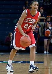 Richmond guard Brittani Shells (20)..The Virginia Cavaliers women's basketball team faced the Richmond Spiders at the John Paul Jones Arena in Charlottesville, VA on November 18, 2007.