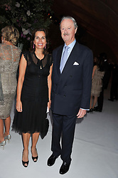 The DUKE & DUCHESS OF MARLBOROUGH at a dinner hosted by Cartier following the following the opening of the Chelsea Flower Show 2012 held at Battersea Power Station, London on 21st May 2012.