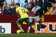 Picture by Paul Chesterton/Focus Images Ltd.  07904 640267.5/11/11.Charles N'Zogbia of Aston Villa and Anthony Pilkington of Norwich in action during the Barclays Premier League match at Villa Park stadium, Birmingham.