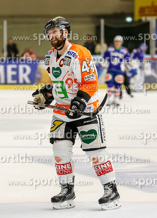 23.10.2014, Eisstadion Liebenau, Graz, AUT, EBEL, Moser Medical Graz 99ers vs EC VSV, 13. Runde, im Bild Olivier Latendresse (Moser Medical Graz 99ers) // Olivier Latendresse (Moser Medical Graz 99ers) during the Erste Bank Icehockey League 13th Round match between Moser Medical Graz 99ers and EC VSV at the Ice Stadium Liebenau, Graz, Austria on 2014/10/23, EXPA Pictures © 2014, PhotoCredit: EXPA/ Erwin Scheriau
