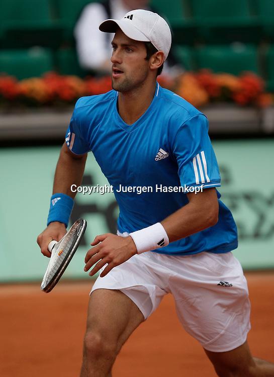 French Open 2009, Roland Garros, Paris, Frankreich,Sport, Tennis, ITF Grand Slam Tournament,  ..Novak Djokovic (SRB)..Foto: Juergen Hasenkopf..