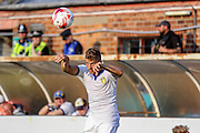 Geatano Beradi during the Friendly match between York City and Leeds United at Bootham Crescent, York, England on 15 July 2015. Photo by Simon Davies.