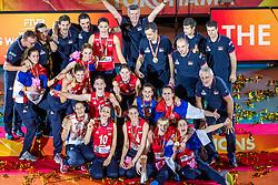 20-10-2018 JPN: Ceremony World Championship Volleyball Women day 21, Yokohama<br /> World Champion Serbia