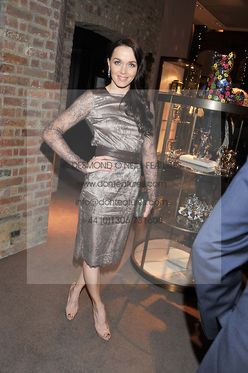 VICTORIA PENDLETON at a dinner hosted by Asprey for The Woodland Trust in support of the Jubilee Woods Project, held at Asprey, 167 New Bond Street, London on 22nd November 2012.