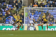 Reading Sone Aluko (14) attempts a shot on goal during the EFL Sky Bet Championship match between Reading and Sheffield Wednesday at the Madejski Stadium, Reading, England on 25 November 2017. Photo by Gary Learmonth.