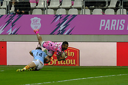 January 5, 2019 - Paris, France - Stade Francais Wing NAYACALEVU WAISEA in action during the French rugby championship Top 14 match between Stade Francais and  Perpignan  at Jean Bouin Stadium in Paris - France..Stade Franais won 27-8 (Credit Image: © Pierre Stevenin/ZUMA Wire)