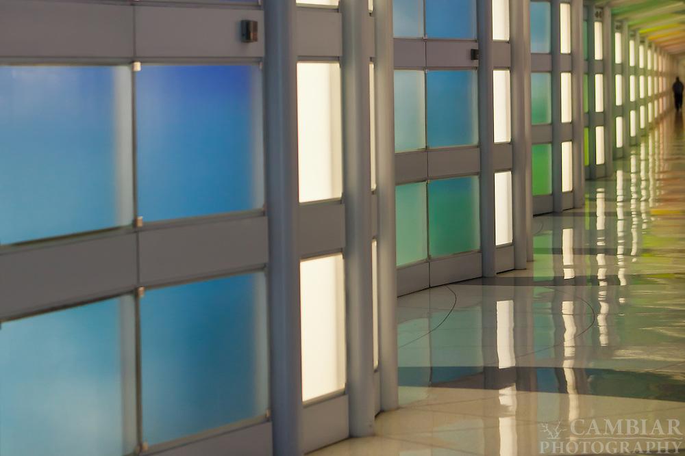 O'Hare Airport Hallway of Lights