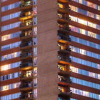 Exterior photo of San Francisco Tower, residential high-rise in Crown Center, Kansas City, Missouri.