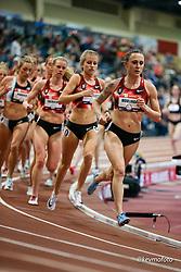2020 USATF Indoor Championship<br /> Albuquerque, NM 2020-02-14<br /> photo credit: © 2020 Kevin Morris<br /> womens 1500m, Bowerman TC, Nike