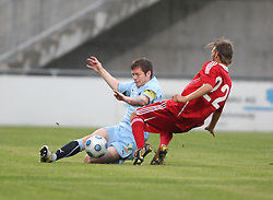 Darren Barr & Pascal Cerrone.<br /> Vaduz v Falkirk FC train at the Rheinpark Stadium for their Europa League second-round qualifier against Vaduz in Liechtenstein.<br /> ©2009 Michael Schofield. All Rights Reserved.