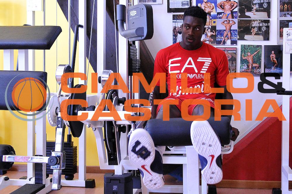 Awudu Abass <br /> EA7 Emporio Armani Olimpia Milano allenamento pesi<br /> Lega Basket Serie A 2016/2017<br /> Bormio 26/08/2016<br /> Foto Ciamillo-Castoria