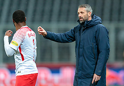 31.03.2018, Red Bull Arena, Salzburg, AUT, 1. FBL, FC Red Bull Salzburg vs RZ Pellets WAC, 28. Runde, im Bild Reinhold Yabo (FC Red Bull Salzburg), Trainer Marco Rose (FC Red Bull Salzburg) // during Austrian Football Bundesliga 28th round Match between FC Red Bull Salzburg and RZ Pellets WAC at the Red Bull Arena, Salzburg, Austria on 2018/03/31. EXPA Pictures © 2018, PhotoCredit: EXPA/ JFK