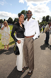 EDWIN & MICHELLE MOSES at the IWC Laureus Polo Cup Day 2008 held at Ham Polo Club, Surrey on 22nd June 2008.<br /><br />NON EXCLUSIVE - WORLD RIGHTS