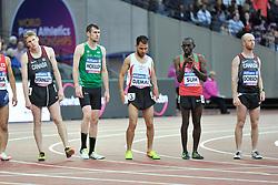 22/07/2017 : Michael McKillop (IRL), Liam Stanley (CAN), Madjid Djemai (ALG), Jonathan Sum (KEN), Shayne Dobson (CAN), T37, Men's 1500m, Final, at the 2017 World Para Athletics Championships, Olympic Stadium, London, United Kingdom