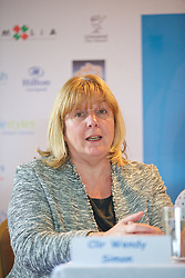 LIVERPOOL, ENGLAND - Thursday, June 18, 2015: Liverpool Labour's Cabinet member for Culture and Tourism Councillor Wendy Simon during a press conference on Day 1 of the Liverpool Hope University International Tennis Tournament at Liverpool Cricket Club. (Pic by David Rawcliffe/Propaganda)
