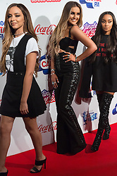 © Licensed to London News Pictures. 03/12/2016. JADE THIRWALL  PERRIE EDWARDS and LEIGH-ANN PINNOCK of LITTLE MIX attend Capital's Jingle Bell Ball with Coca-Cola at London's O2 Arena London, UK. Photo credit: Ray Tang/LNP