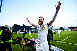 Mark O'Brien of Newport County celebrates winning through to the Sky Bet League Two Playoff Final - Mandatory by-line: Robbie Stephenson/JMP - 12/05/2019 - FOOTBALL - One Call Stadium - Mansfield, England - Mansfield Town v Newport County - Sky Bet League Two Play-Off Semi-Final 2nd Leg