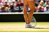 LONDON, ENGLAND - JULY 2: Ladies' Singles semi-final match against on day ten of the Wimbledon Lawn Tennis Championships at the All England Lawn Tennis and Croquet Club at Wimbledon on July 3, 2014 in London, England.