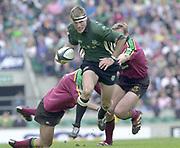 10/04/2002 - Powergen National Cup Final - Twickenham.London Irish vs Northampton...Michael Horak, slips the Saints defence..