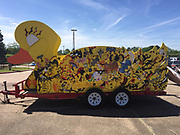 """Meyerland Performing & Visual Arts Middle School created """"The Duckmobile"""" for the 2017 Art Car Parade."""