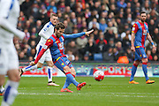 Yohan Cabaye (7) of Crystal Palace passes the ball during the Barclays Premier League match between Crystal Palace and Leicester City at Selhurst Park, London, England on 19 March 2016. Photo by Phil Duncan.