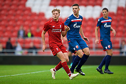 ST HELENS, ENGLAND - Wednesday, October 24, 2018: Liverpool's Paul Glatzel during the UEFA Youth League Group C match between Liverpool FC and FK Crvena zvezda at Langtree Park. (Pic by David Rawcliffe/Propaganda)