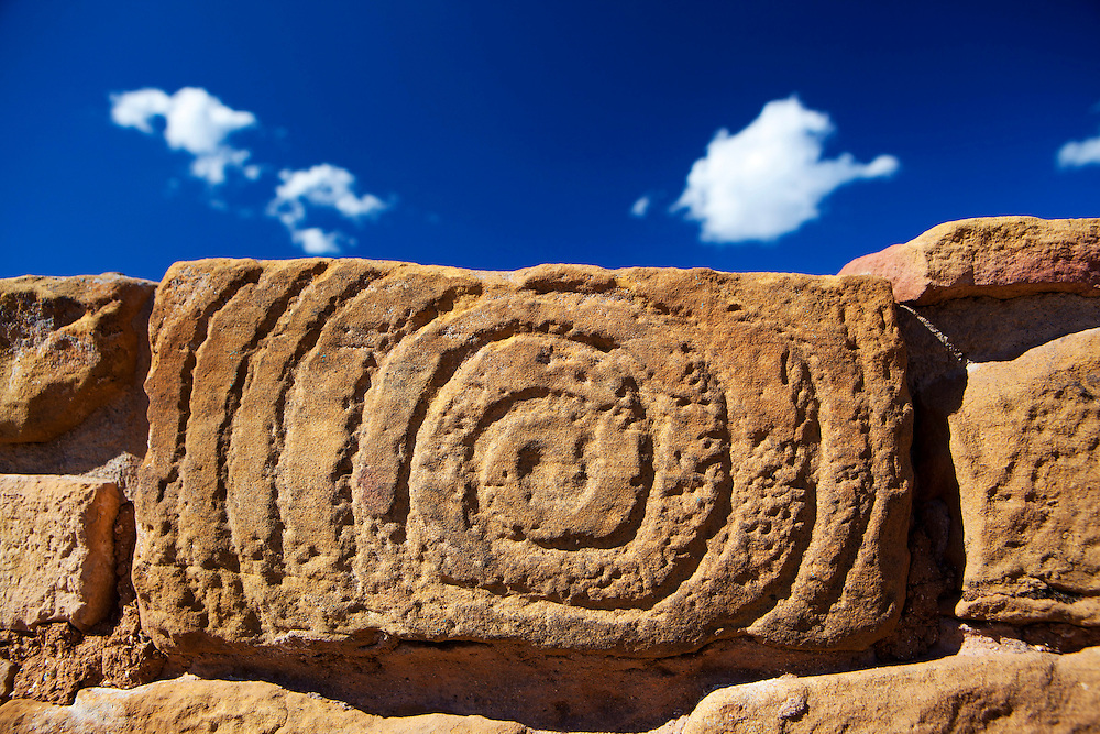 Spiral Stone, Far View Sites, Mesa Verde National Park, images created while serving as Artist-In-Residence for Mesa Verde National Park.