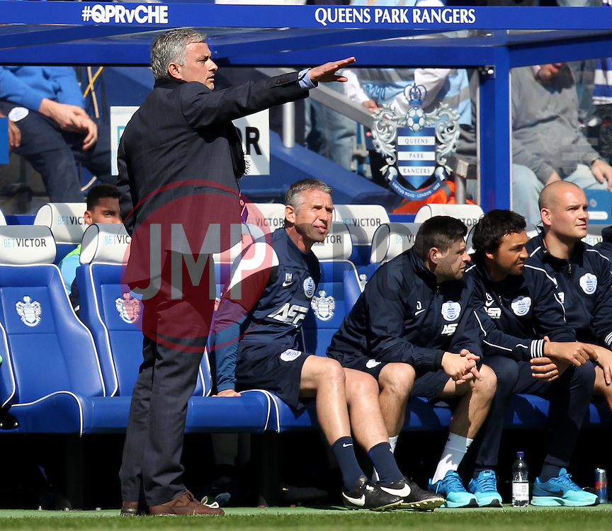 Chelsea Manager, Jose Mourinho - Photo mandatory by-line: Robbie Stephenson/JMP - Mobile: 07966 386802 - 12/04/2015 - SPORT - Football - London - Loftus Road - Queens Park Rangers v Chelsea - Barclays Premier League