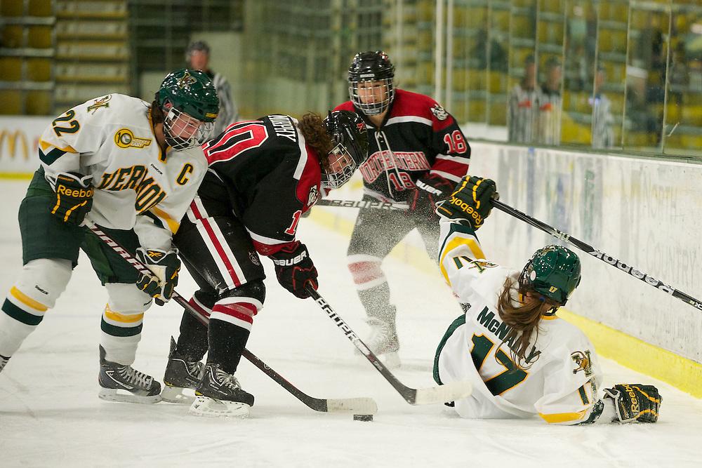 The University of Vermont Catamounts host the Northeastern Huskies in women's hockey at Gutterson Fieldhouse on November 11, 2011 in Burlington, Vermont.