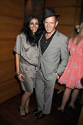 """PAUL SIMONON and SERENA REES at a party and exclusive private view of 'Naked Portrait With Reflection"""" by Lucian Freud hosted by Christie's held at 17 Berkeley Street, London on 17th June 2008.<br /><br />NON EXCLUSIVE - WORLD RIGHTS"""