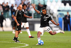 Juventus' Alex Sandro during warm-up