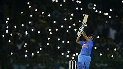 March 6, 2018 - Colombo, Sri Lanka - Indian cricketer Rishabh Pant plays a shot during the 1st T20 cricket match of NIDAHAS Trophy between Sri Lanka and India at R Premadasa cricket ground, Colombo, Sri Lanka on Tuesday 6 March 2018  (Credit Image: © Tharaka Basnayaka/NurPhoto via ZUMA Press)