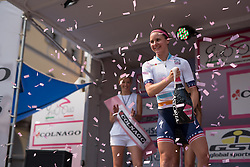 Megan Guarnier (Boels Dolmans) extends her lead in the UCI Women's World Tour competition after the final stage of the Giro Rosa 2016 on 10th July 2016. A 104km road race starting and finishing in Verbania, Italy.