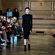 Designer Chanel Joan Elkayam herself at The British luxury Womenswear designer, Chanel Joan Elkayam, showcases her Autumn - Winter 2020 show ahead of London Fashion Week on 13 February 2020 at Cecil Sharp House, London, UK.