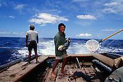Mahimahi fishing on Orion, Hawaii