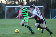Forest Green Rovers Lewis Spurrier(10) runs forward during the The Central League match between Cheltenham Town Reserves and Forest Green Rovers Reserves at The Energy Check Training Ground, Cheltenham, United Kingdom on 28 November 2017. Photo by Shane Healey.