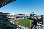 A general view of Target Field while the Minnesota Twins take batting practice before a game against the Detroit Tigers on September 29, 2012 in Minneapolis, Minnesota.  The Tigers defeated the Twins 6 to 4.  Photo: Ben Krause
